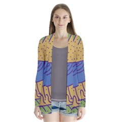Blue Bird Drape Collar Cardigan