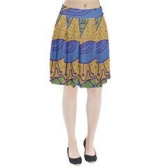 Blue bird Pleated Skirt