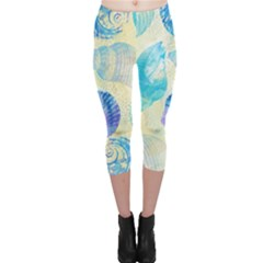 Seashells Capri Leggings