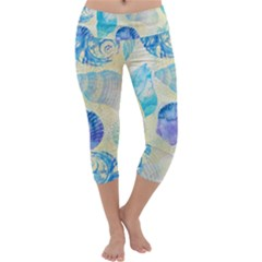 Seashells Capri Yoga Leggings