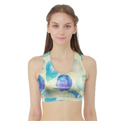 Seashells Sports Bra with Border