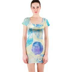 Seashells Short Sleeve Bodycon Dress