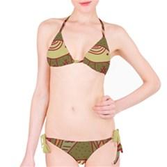 Brown bird Bikini Set