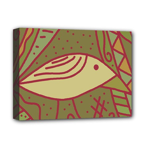 Brown bird Deluxe Canvas 16  x 12