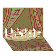 Brown bird HOPE 3D Greeting Card (7x5)
