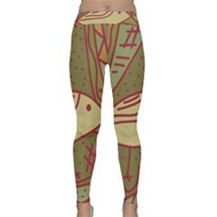 Brown bird Yoga Leggings