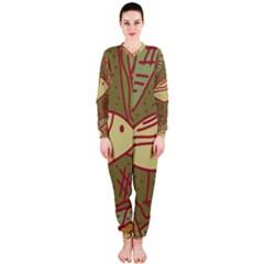 Brown bird OnePiece Jumpsuit (Ladies)