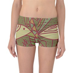 Brown bird Reversible Boyleg Bikini Bottoms