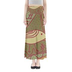 Brown bird Maxi Skirts