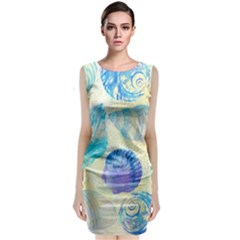 Seashells Classic Sleeveless Midi Dress
