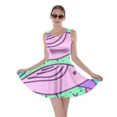 Pink pastel bird Skater Dress