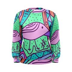 Pink pastel bird Women s Sweatshirt