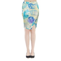 Seashells Midi Wrap Pencil Skirt