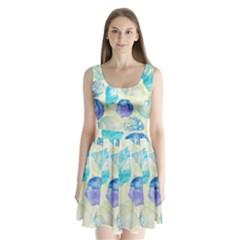 Seashells Split Back Mini Dress