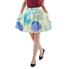 Seashells A-Line Pocket Skirt
