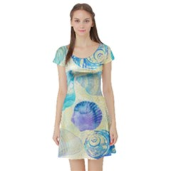 Seashells Short Sleeve Skater Dress