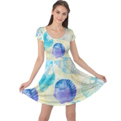 Seashells Cap Sleeve Dress