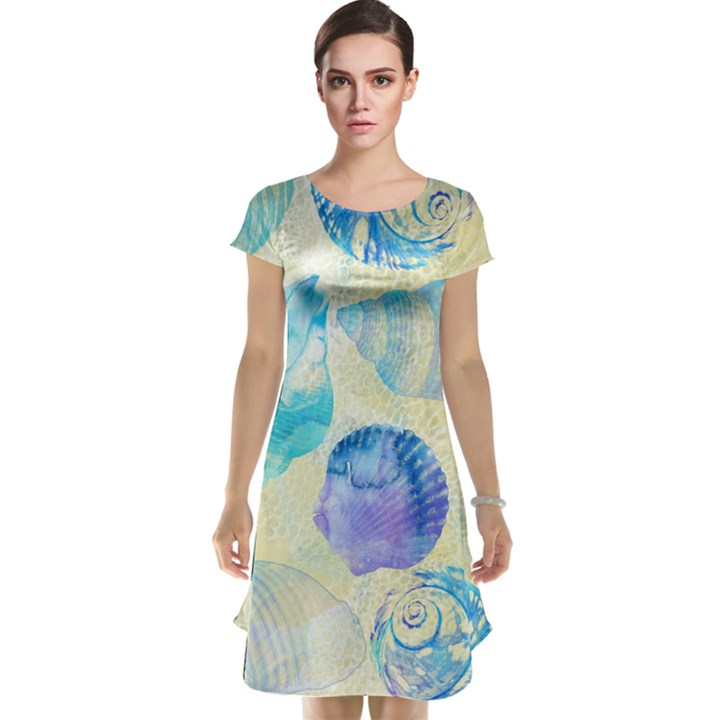 Seashells Cap Sleeve Nightdress