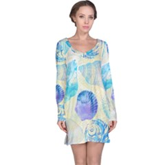Seashells Long Sleeve Nightdress