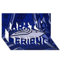 Blue bird Best Friends 3D Greeting Card (8x4)