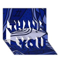Blue bird THANK YOU 3D Greeting Card (7x5)