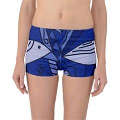 Blue bird Reversible Boyleg Bikini Bottoms