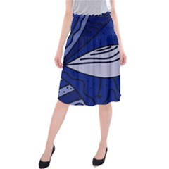 Blue bird Midi Beach Skirt
