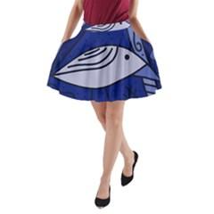 Blue Bird A Line Pocket Skirt