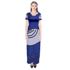 Blue bird Short Sleeve Maxi Dress