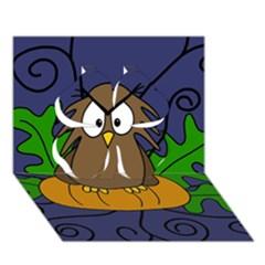Halloween Owl And Pumpkin Clover 3d Greeting Card (7x5)