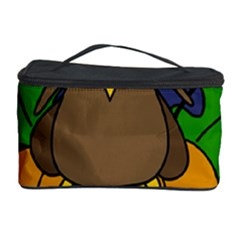 Halloween owl and pumpkin Cosmetic Storage Case