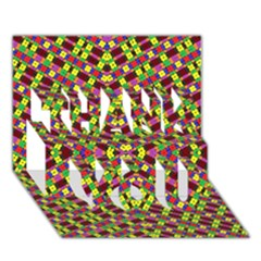 Planet Light Thank You 3d Greeting Card (7x5)