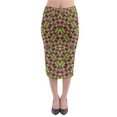 Tishrei King Four I Midi Pencil Skirt