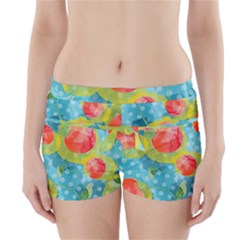 Red Cherries Boyleg Bikini Wrap Bottoms