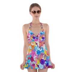 Anemones Halter Swimsuit Dress