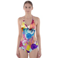 Anemones Cut Out One Piece Swimsuit