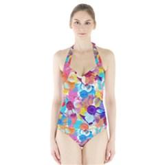 Anemones Halter Swimsuit