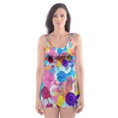 Anemones Skater Dress Swimsuit