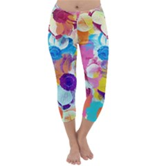 Anemones Capri Winter Leggings
