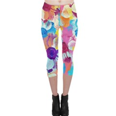 Anemones Capri Leggings