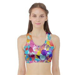 Anemones Sports Bra With Border
