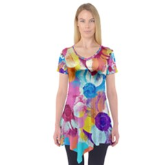 Anemones Short Sleeve Tunic