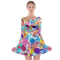 Anemones Long Sleeve Skater Dress