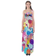 Anemones Empire Waist Maxi Dress