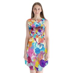 Anemones Sleeveless Chiffon Dress