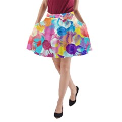 Anemones A Line Pocket Skirt