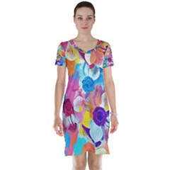 Anemones Short Sleeve Nightdress