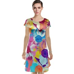 Anemones Cap Sleeve Nightdress
