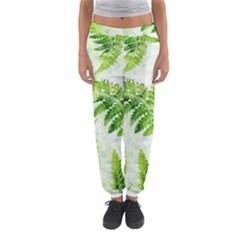 Fern Leaves Women s Jogger Sweatpants
