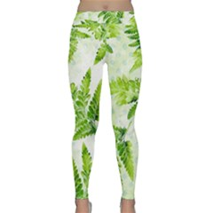Fern Leaves Yoga Leggings